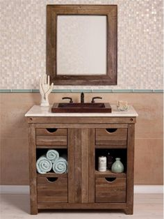 Great Reclaimed Wood Bathroom Vanity #1: Chardonnay Vanity From Native Trails