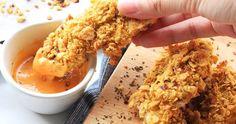 難以拒絕酥酥脆脆的口感太誘人,但隨之而來的熱量也讓人好罪惡啊!!! 這時候烤箱就是你的好朋友,卡滋卡滋的玉米片雞柳條美味上桌~~~