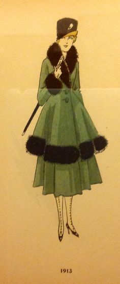 1913 - This would be so great as just a coat, without the bottom bit.