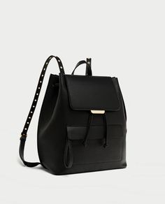 MOCHILA OLLADOS-BOLSOS-TRF | ZARA España Backpack Bags, Leather Backpack, Fashion Backpack, Zara Official Website, Birthday Wishlist, Zara United States, Zara Shoes, Bag Sale, Autumn Winter Fashion