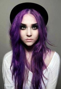 Purple hair, i love this image so much!! :)