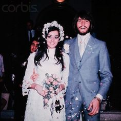 Barry and Linda Gibb on Wedding Day