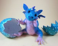 Needle felted dragon - for Julia