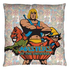 Masters Of The Universe Heroes Throw Pillow