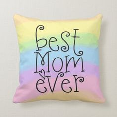 Pillows in a wide range of colors and designs #pillows #cushions #zazzlemade Home Gifts, Gifts For Mom, Rainbow Colors, Vibrant Colors, Accent Pillows, Throw Pillows, 24. August, Typography, Lettering