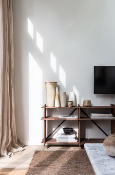 Steal This Look: An Interior Designer's High/Low Scandi Living Room, Ikea Sofa included – Remodelista What is Decoration? Decoration could … Interior, Mid Century Living Room, Home Decor, House Interior, Living Room Trends, Trending Decor, Interior Design, Eclectic Furniture, Ikea Sofa