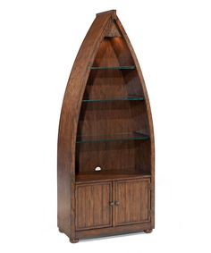 Hardwood Boat Bookcase