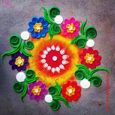 50 Ganga Saptami Rangoli Design (ideas) that you can make yourself or get it made during any occasion on the living room or courtyard floors.