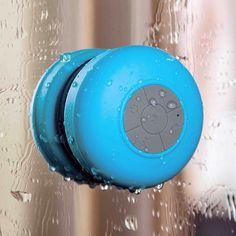 Bluetooth Waterproof Wireless Shower Handsfree Mic Suction Chuck Speaker Blue