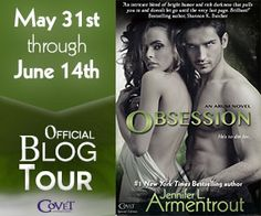 FANGS, WANDS & FAIRY DUST: OBSESSION by Jennifer Armentrout - Why You'll Swoon For Hunter? Guest Blog and Giveaway!