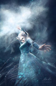 The Disney Women Series By Elaine Ho Here's Elsa, in full control of her powers, turning summer into winter. Disney Fan Art, Disney Love, Disney Frozen, Disney Pixar, Elsa Frozen, Disney Magic, Frozen Fan Art, Disney Illustration, Illustrations