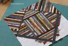 Alternative quilt as you go scrappy quilt