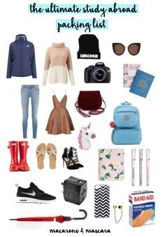The Ultimate Study Abroad Packing List // college packing list for study abroad // what to pack for study abroad