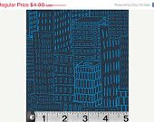 ON SALE Tonal Cityscape Navy from Velocity by Jessica Hogarth  - Half Yard