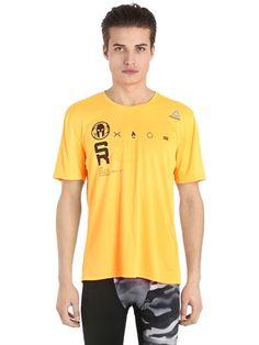 REEBOK Spartan Race Tech T-Shirt, Orange. #reebok #cloth #t