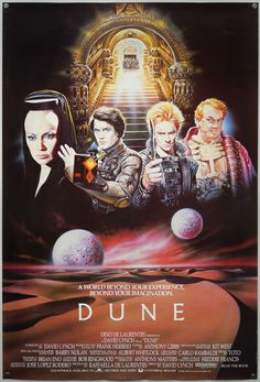 The international one sheet for Dune, designed and painted by Renato Casaro, 1984