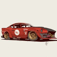 ArtStation - Gaijin, Fernando Correa- # artstation # mail - New Ideas Datsun 240z, Auto Illustration, Opel Gt, Design Autos, 3 Bmw, Cool Car Drawings, Auto Motor Sport, Futuristic Cars, Automotive Art