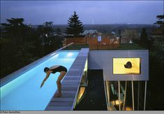 swimming in luxury