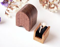 Wooden engagement ring box handmade original by Woodstorming