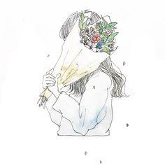 37 Trendy Ideas For Flowers Illustration Art Water Colors Cute Illustration, Watercolor Illustration, Character Illustration, Art Anime, Anime Art Girl, Anime Girls, Watercolor Girl, Digimon, Aesthetic Art