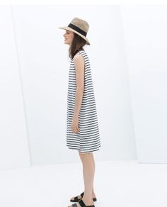 ZARA - WOMAN - STRIPED COTTON DRESS---minus that hat :/