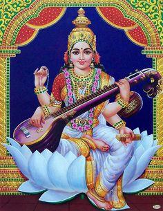 Saraswati Jai Maa Saraswati, Saraswati Photo, Saraswati Goddess, Pictures Images, Hd Images, Cool Pictures, Hindu Deities, Hinduism, Saraswathi Pooja
