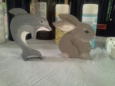 Painted wooden animals for Penelope