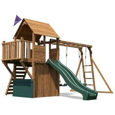 IN STOCK: best prices on Climbing Frame BalconyFort Searcher - Wooden Playhouse Childrens Outdoor Play Tower Monkey Bar Swing Set Club House Slide - choose between 45 Playsets Childrens Play Area Garden, Kids Play Area, Children Garden, Wooden Climbing Frame, Wooden Swings, Garden Climbing Frames, Toddler Outdoor Playset, Wall Ladders, House Slide