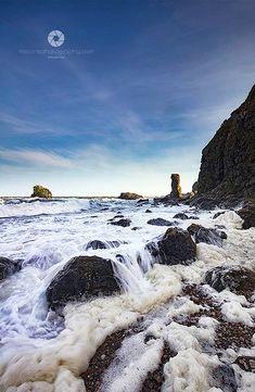 Rough Sea at Muchalls, Scotland