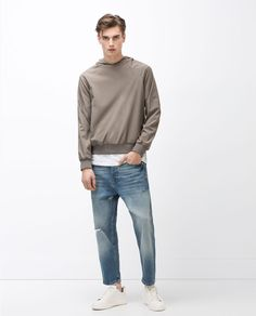 Image 1 of SWEATSHIRT WITH POUCH POCKET from Zara