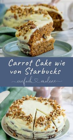 I absolutely love this carrot cake. Because this one is made with nuts and . - Rezepte: Kuchen & Torten - I absolutely love this carrot cake. Because this one with nuts and cinnamon becomes the absolutely - Food Cakes, Easy Cake Recipes, Cookie Recipes, Bread Recipes, Salty Cake, Savoury Cake, Mini Cakes, Clean Eating Snacks, Vanilla Cake