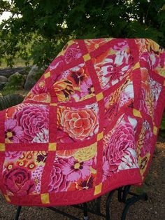 Image detail for -Kaffe Fassett Contemporary Baby Quilt or Lap by cachecreekquilts
