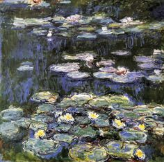 Monet Paintings: White and Yellow Water Lilies - Classic 20 X 24 - Hand Painted Canvas Art, Unframed Loose Canvas Monet Paintings, Impressionist Paintings, Landscape Paintings, Winterthur, Pierre Auguste Renoir, Artist Monet, Landscape Model, Monet Water Lilies, Classic Artwork