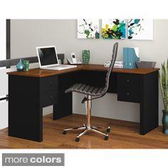 realspace magellan l shaped desk espresso item 101095 decor rh pinterest com