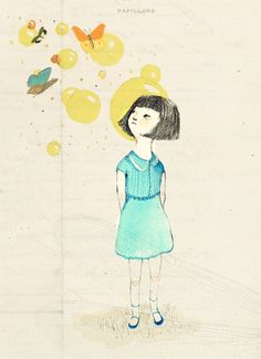 Alis would forget to look when crossing the street, because she had butterflies to meet.
