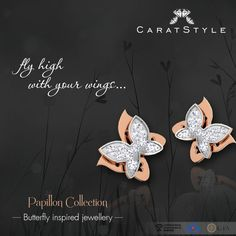 Emulate the beauty of butterfly with Papillon collection only at ‪#‎Caratstyle‬. #jewellery #india #designer #jewelry #lifestyle #fashion #style
