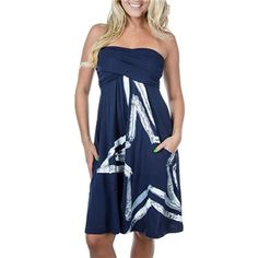 Dallas Cowboys Painted Star Tube Dress - Im gonna NEED this for football season. :)