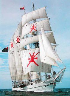 Shabab Oman - Varata nel 1971, è la più grande nave scuola navigante interamente costruita in legno. Lunga 52 m.
