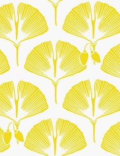 Yellow and white designer wallpaper by Kuboaa Ginko Goarse Yellow modern contemporary design - Kuboaa Textures Patterns, Print Patterns, Motifs Art Nouveau, Rhythmic Pattern, Paper Wall Art, Wallpaper Direct, Computer Wallpaper, Diy Arts And Crafts, Mellow Yellow