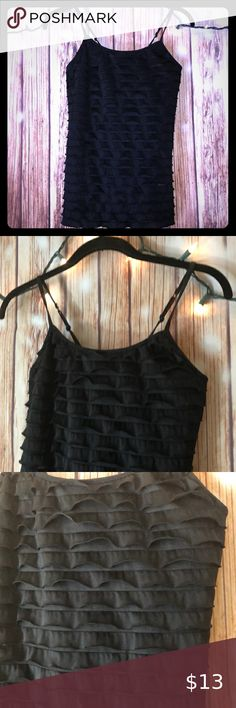 LACE TIERED RACER BACK RUFFLE TANK TOP SLEEVELESS TEE MULTI-COLOR