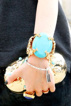 Love, love, love...Paris Fashion Week Accessories - Paris Street Style Accessories - Elle