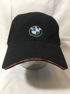 ab95a90600a BMW Performance Driving School Hat Baseball Cap Adjustable Strapback Black   Vantage  BaseballCap Bmw Performance