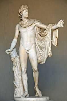 Marble Sculpture of the Greek god Apollo, Vatican Museum