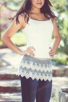 $12.99   Lace Bottom Shirt Extenders! 1x-3x Added!   Shop women's boutique clothing deals on Jane.com