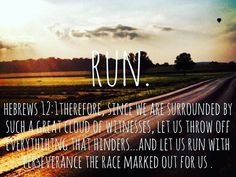 Let us run with perseverance...