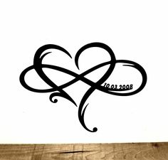 Personalized Heart Infinity Symbol with Heart and Custom Wedding Date Wall Decor - Wedding Gift for Couple - Anniversary Gift - Mandela tatuering Infinity Heart, Infinity Symbol, Infinity Signs, Anniversary Gifts For Couples, Wedding Gifts For Couples, Ring Tattoos, Body Art Tattoos, Trendy Tattoos, Love Tattoos