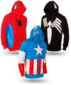 Spiderman, Venon & Capitán América