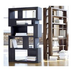 On the left - partially closed shelves. very useful    Furniture Ideas: Pablo Room Divider and Bookcase