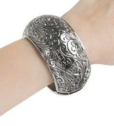 Fashion Bracelet for FitBit Avia or Misfit Activity Tracker  The PAIGE 75 Engraved Antique Silver Bracelet  Activity Tracker Not Included >>> Visit the affiliate link Amazon.com on image for more details.