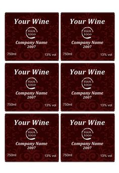 6 Free Printable Wine Labels You Can Customize Drinks